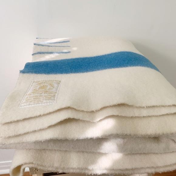 Vintage Hudsons Bay Full Four Point Wool Blanket